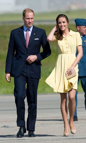 Prince William and Kate Middleton at an airport