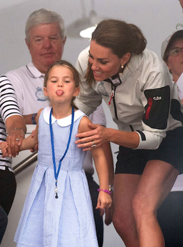 Princess Charlotte stuck her tongue out at the King's Cup Regatta in 2019