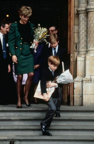 Princess Diana visits the Natural History Museum with Prince William and Prince Harry