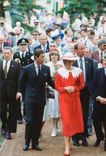 Princess Diana and Prince Charles in Canada on their first overseas royal tour