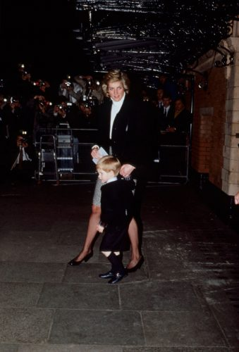 Princess Diana and Prince Harry at the Palace Theatre, 1988