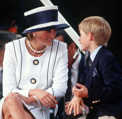 Princess Diana and Prince Harry attend VJ Day Commemorative Evens