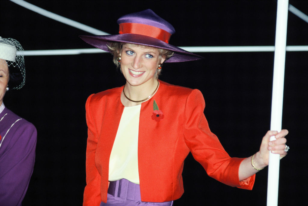 Diana, Princess of Wales, during her official visit to Hong Kong on November 7, 1989 in Hong Kong