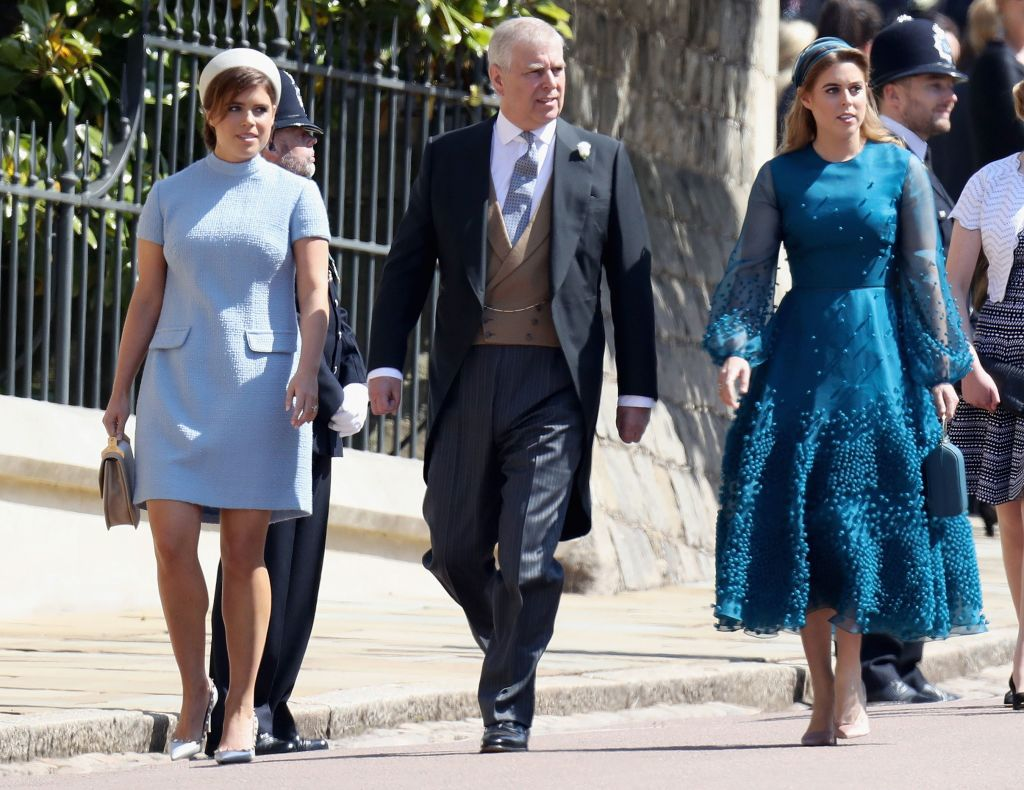 Princess Eugenie, Prince Andrew, and Princess Beatrice