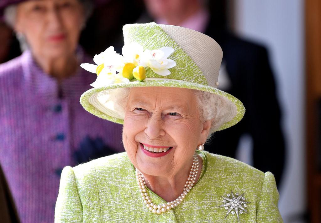 Queen Elizabeth II visits Hauser & Wirth on March 28, 2019 in Bruton, Somerset, England