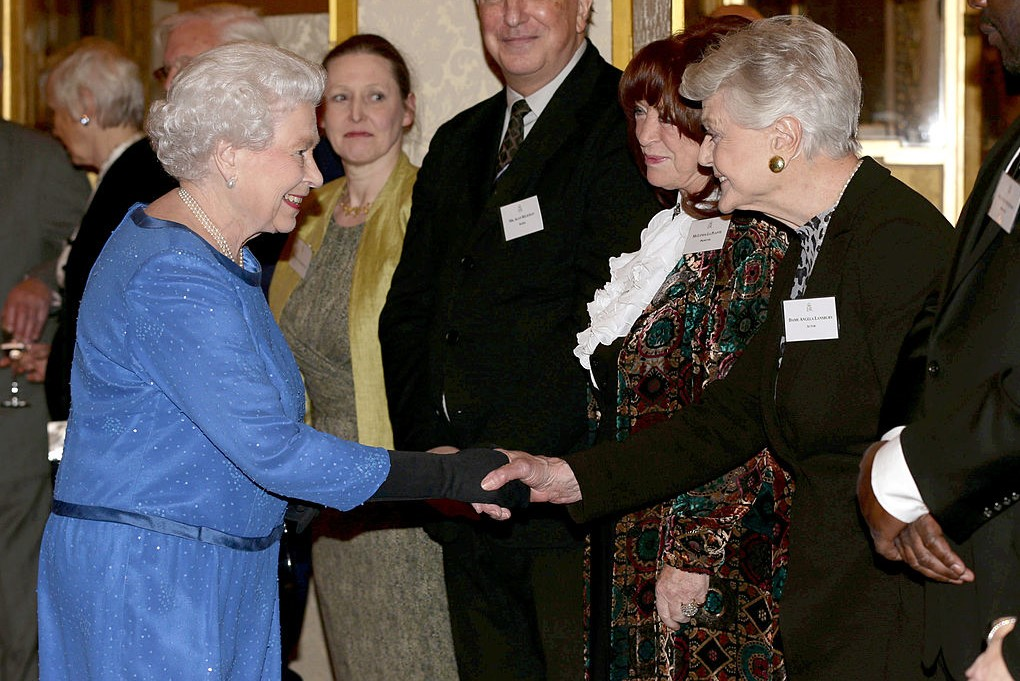Queen Elizabeth II and Angela Lansbury