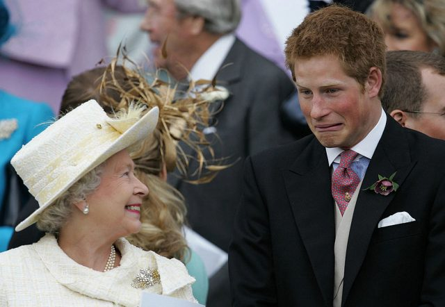 Queen Elizabeth and Prince Harry share a joke following marriage blessing for Prince Charles and Camilla Parker Bowles