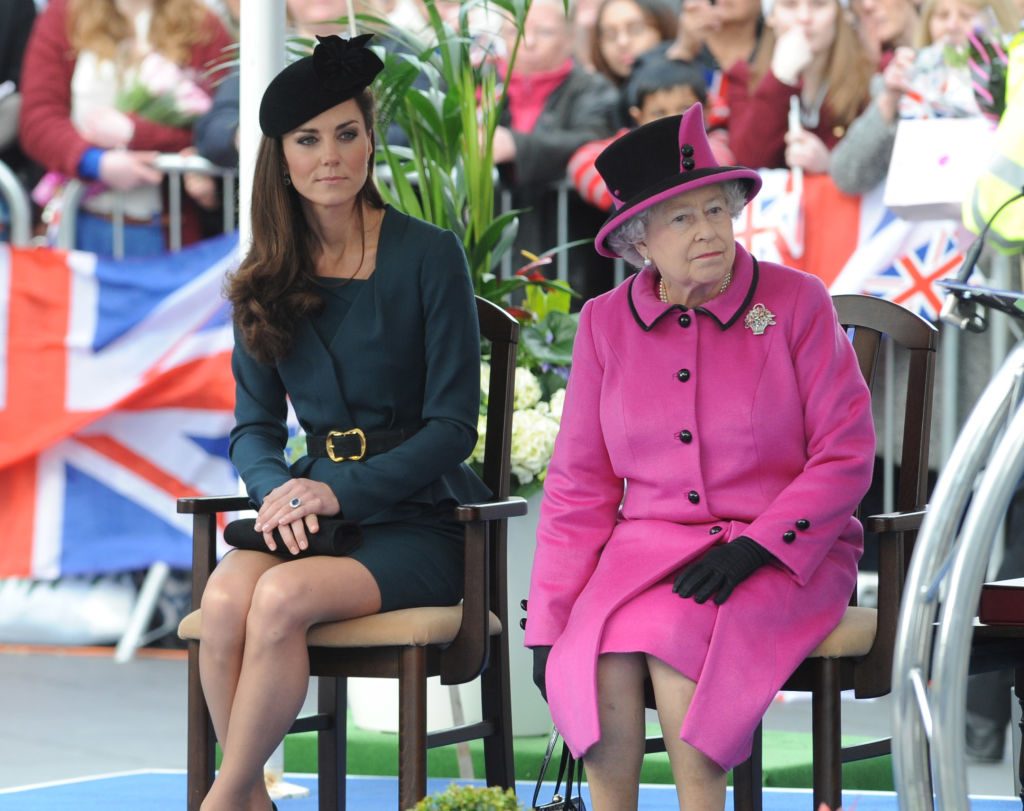 Queen Elizabeth ll and Kate Middleton