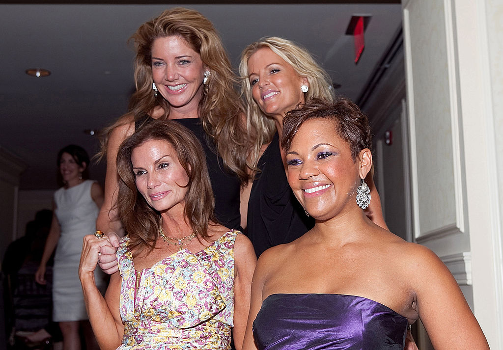 Cast members Lynda Erkiletian, Mary Schmidt Amons, Catherine Ommanney and Stacie Scott Turner at the premiere of 'The Real Housewives Of D.C.'