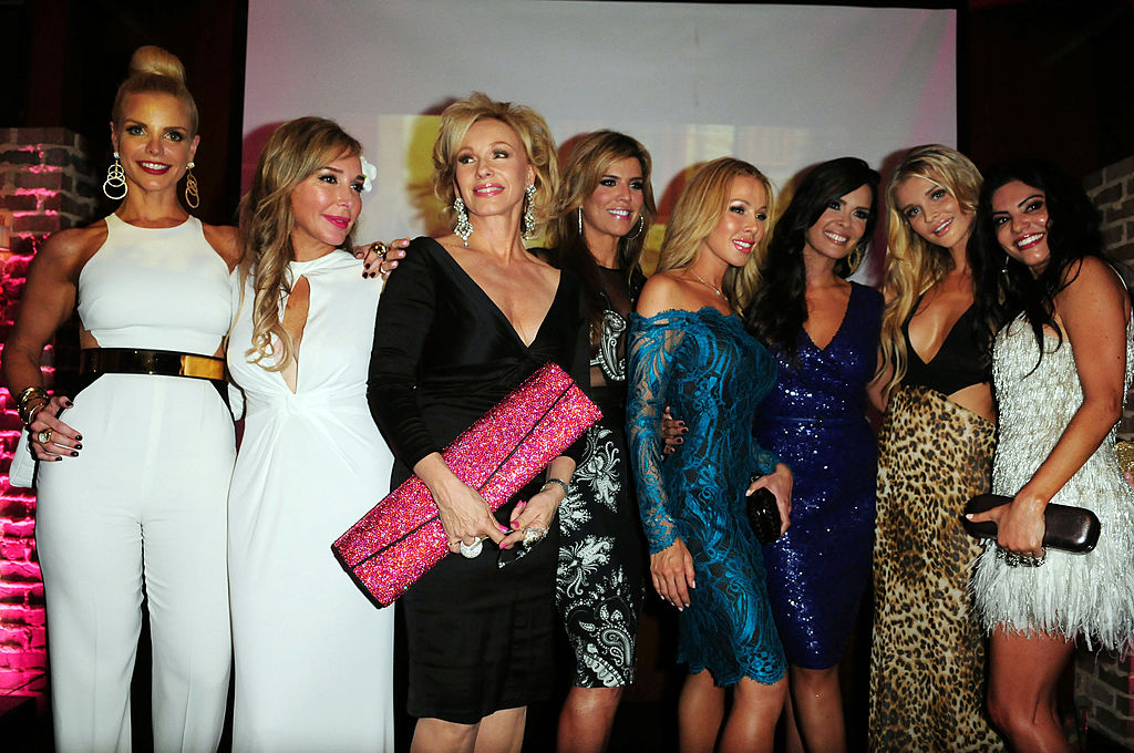 Alexia Echevarria, Marysol Patton, Lea Black, Ana Quincoces, Lisa Hochstein, Karent Sierra, Joanna Krupa, and Adriana de Moura attend The Real Housewives of Miami Season 2 VIP Launch Party