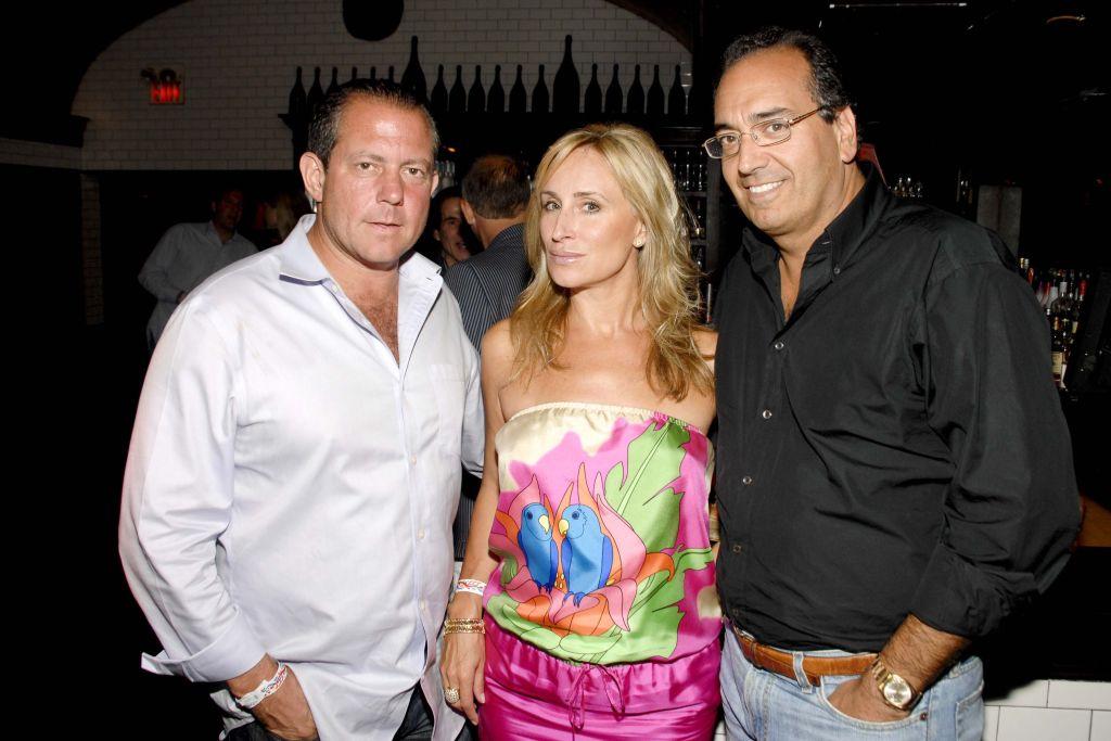 Harry Dubin, Sonja Morgan and Joe Delvecchio attend Sonja Morgan and R. Couri Hay Salute American Friends