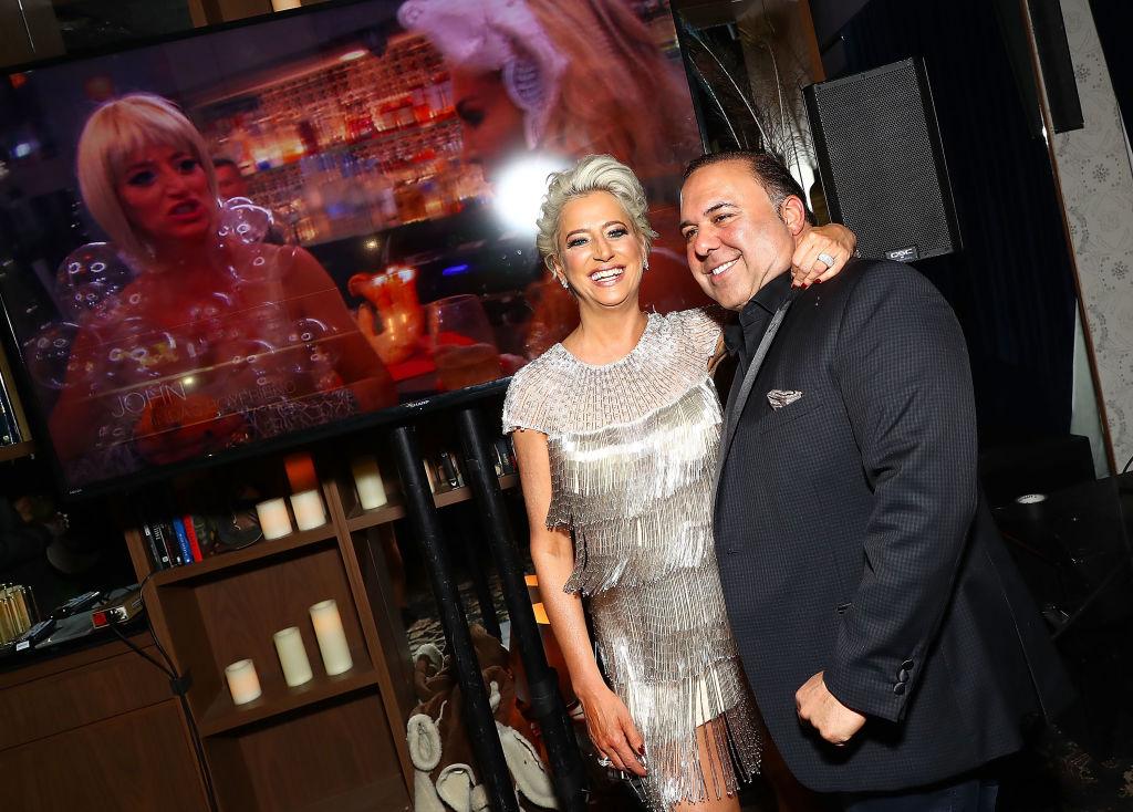 Dorinda Medley and John Mahdessian attend The Real Housewives of New York Season 10 premiere celebration