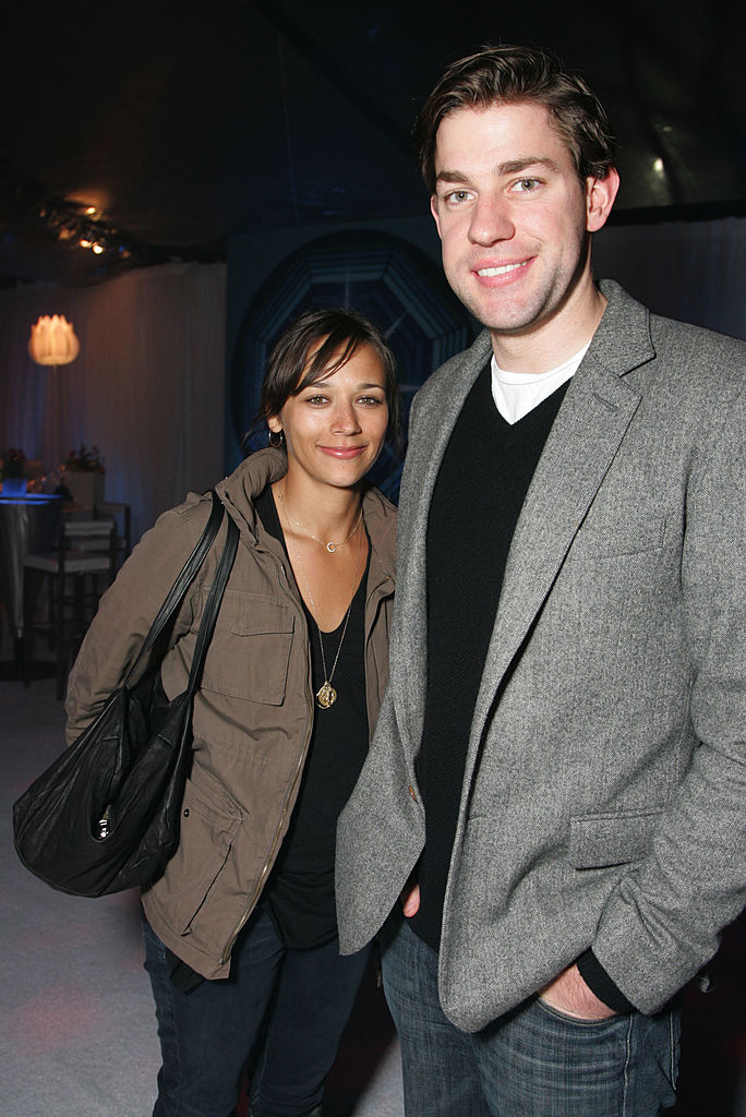'The Office's' Rashida Jones and John Krasinski attend the after party for the premiere of New Line's 'The Last Mimzy'