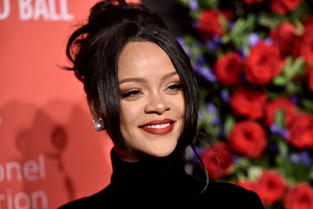Rihanna attending a charity event