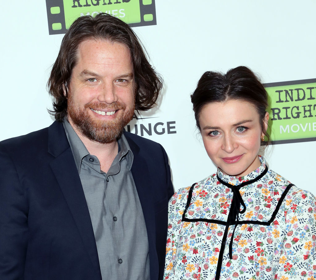 Rob Giles and 'Grey's Anatomy's' Caterina Scorsone attend the premiere of Indie Rights' 'Confessions of a Teenage Jesus Jerk'