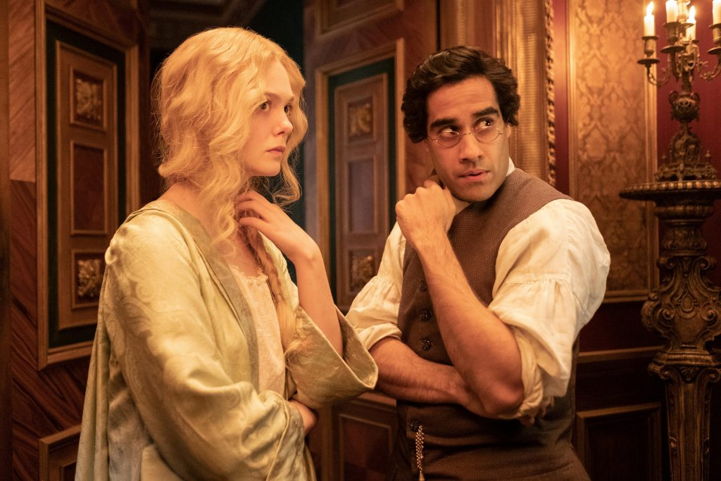 Sacha Dhawan and Elle Fanning in 'The Great'