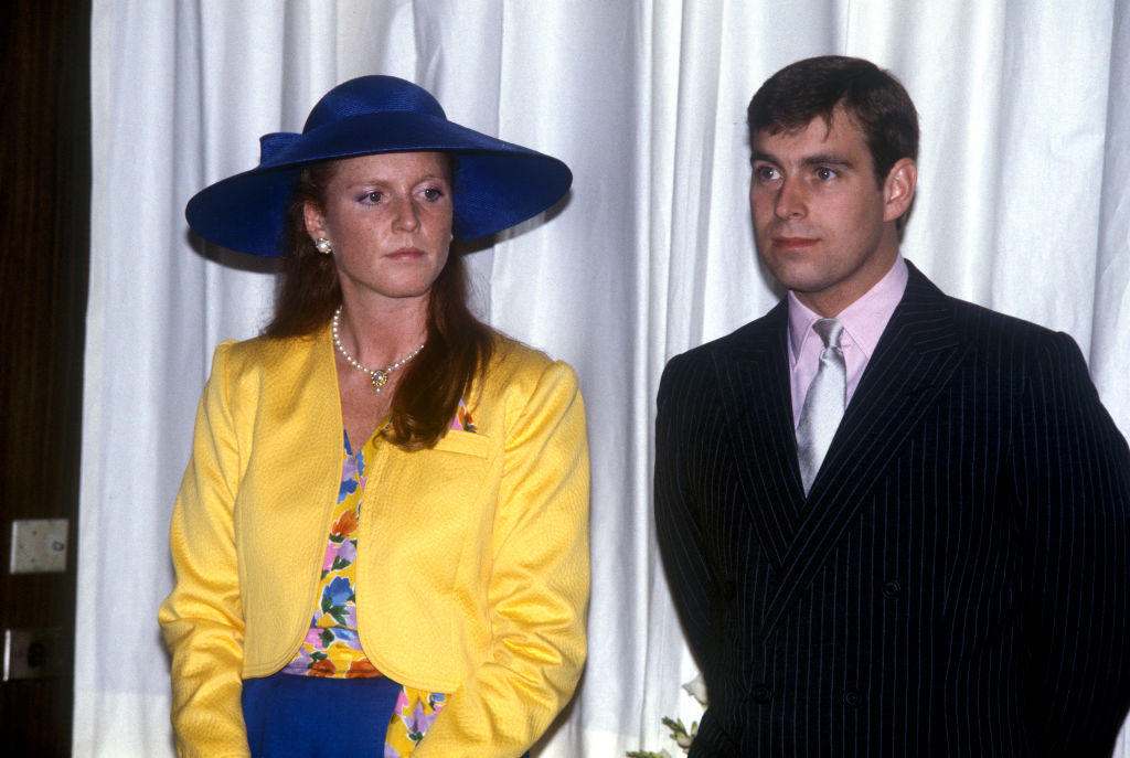 Sarah, Duchess Of York With Prince Andrew, Duke Of York, Watching A Fashion Show At The Royal York Hotel In Ontario, Canada, 17th July 1987.