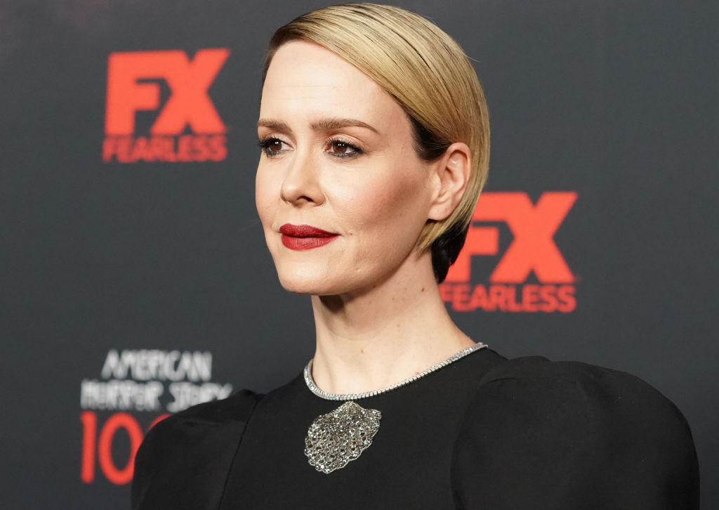 "Sarah Paulson attends FX's ""American Horror Story"" 100th Episode Celebration at Hollywood Forever on October 26, 2019 in Hollywood, California."