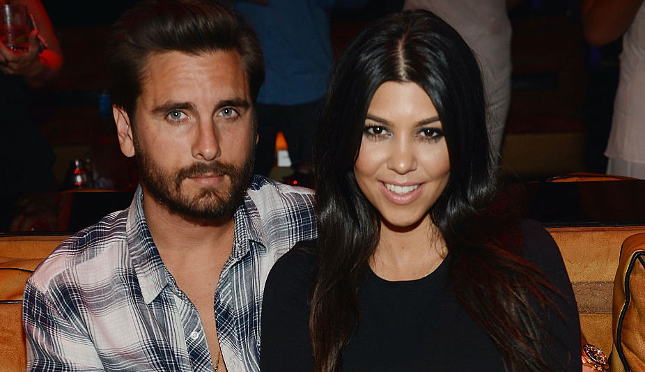 Scott Disick and Kourtney Kardashian at an event in April 2015
