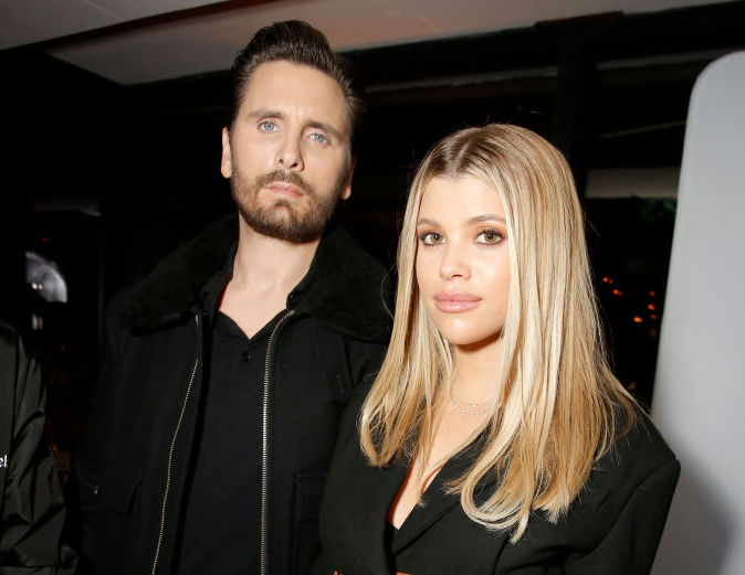 Scott Disick and Sofia Richie at an event in February 2020