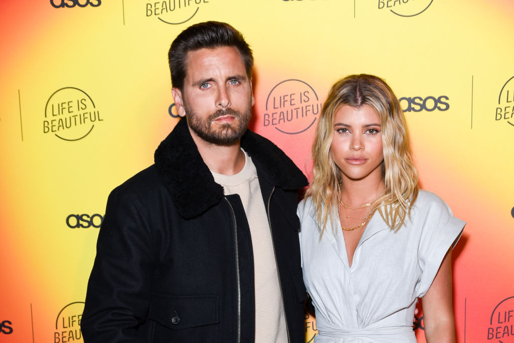 Scott Disick and Sofia Richie at an event in April 2019