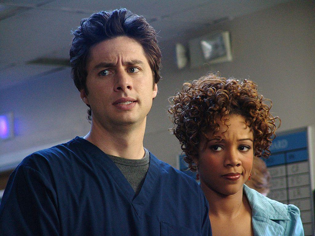 Scrubs: Zach Braff and Chrystee Pharris