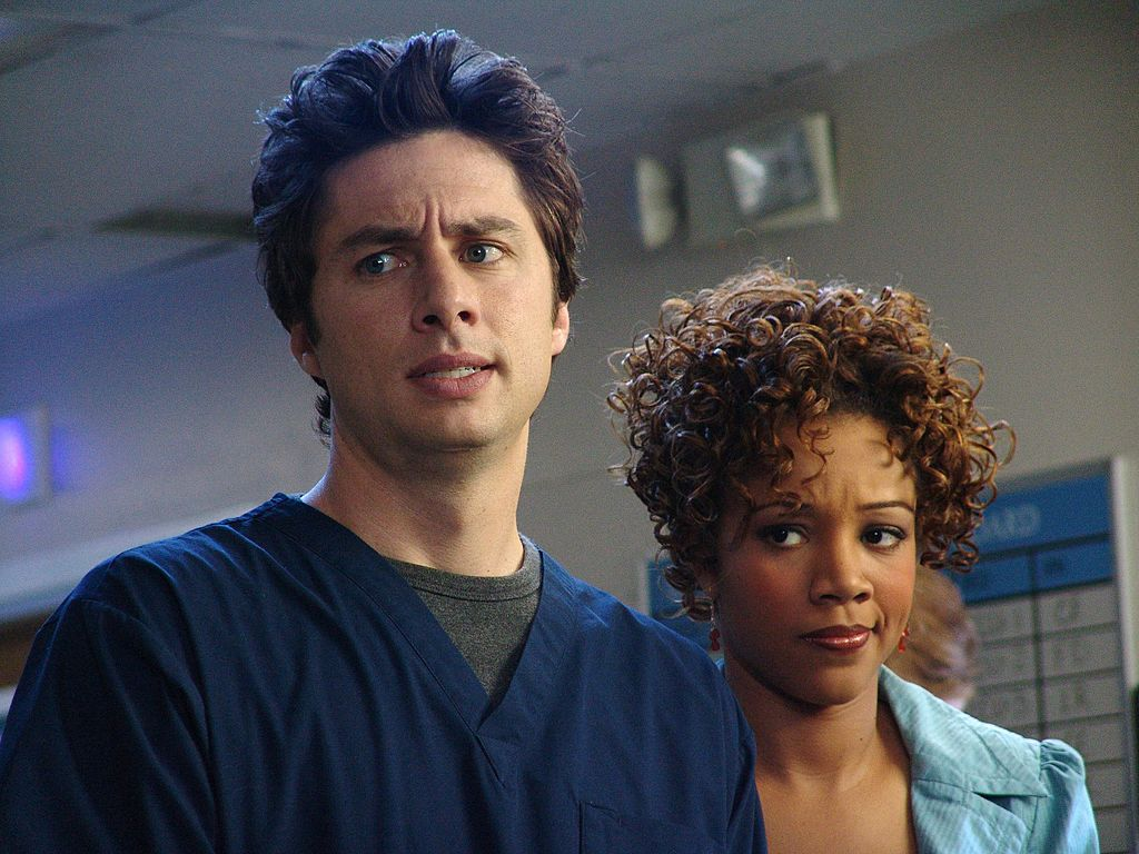 Scrubs: Zach Braff and Chrystee Pharris