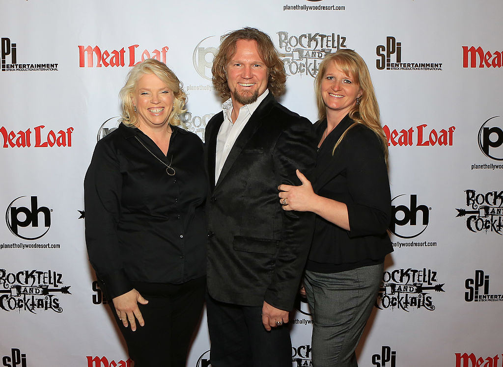 """Janelle Brown, Kody Brown and Christine Brown from """"Sister Wives"""" arrive at Planet Hollywood Resort"""