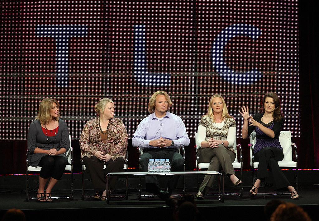 Meri Brwon, Janelle Brown, Kody Brown, Christine Brown and Robyn Brown speak at the 2010 Summer TCA pres tour