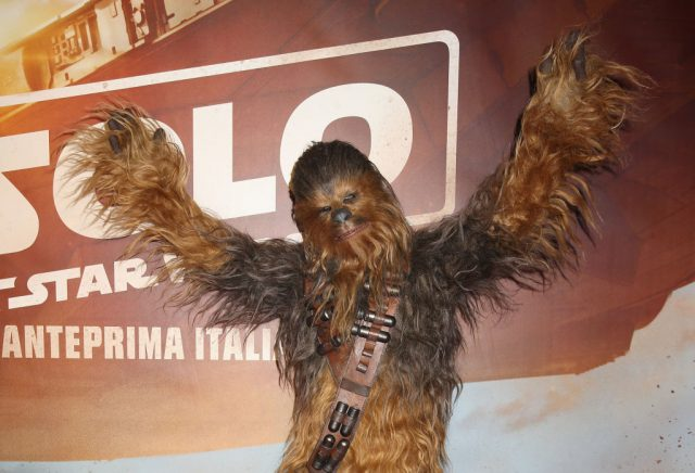 Chewbacca at a photocall for 'Solo: A Star Wars Story'