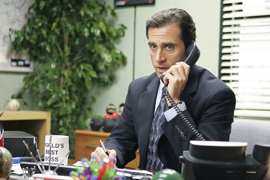 Steve Carell as Michael Scott on The Office