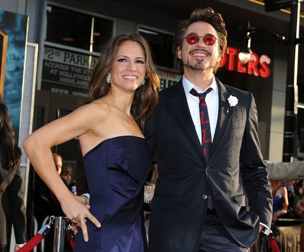 Susan Downey and Robert Downey Jr. attend the world premiere of 'Iron Man 2' in 2010