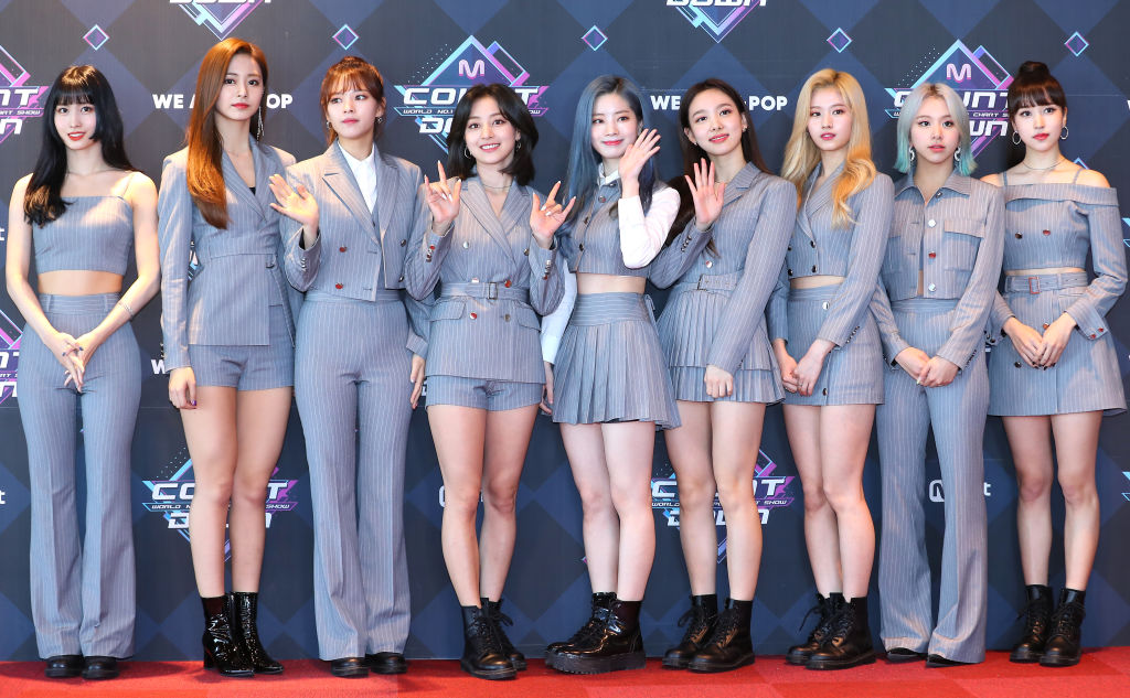 TWICE group shot before rehearsals for Mnet TV 'M Countdown', Seoul, on May 02, 2019 in Seoul, South Korea.