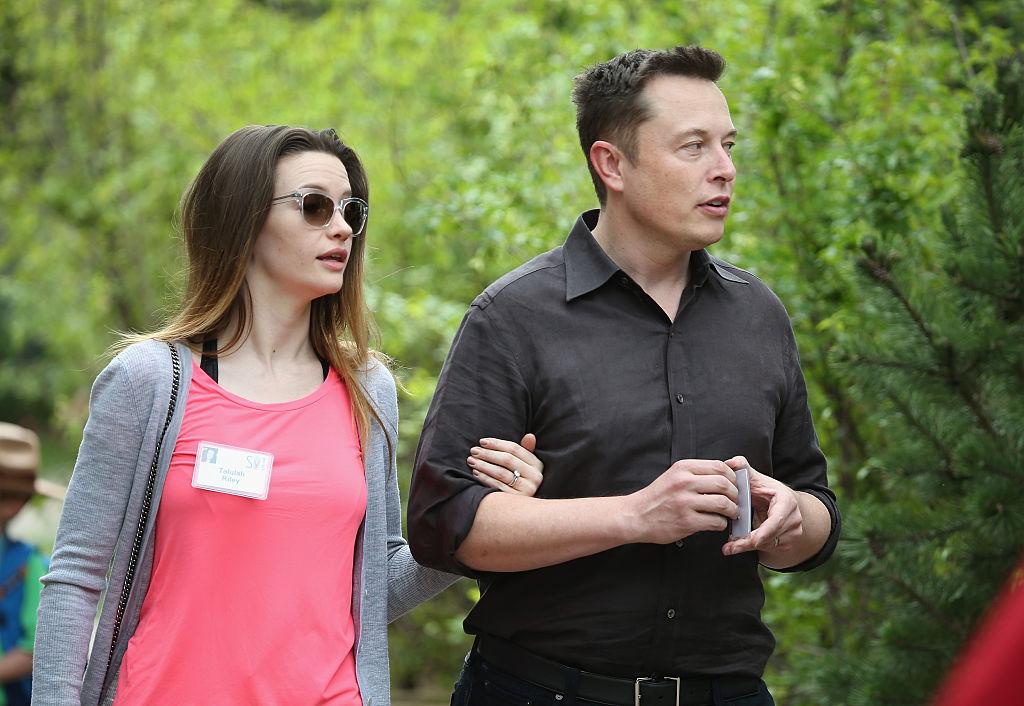 Elon Musk and actress Talulah Riley