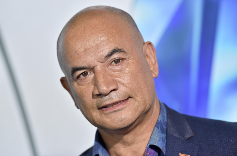 Temuera Morrison on the red carpet