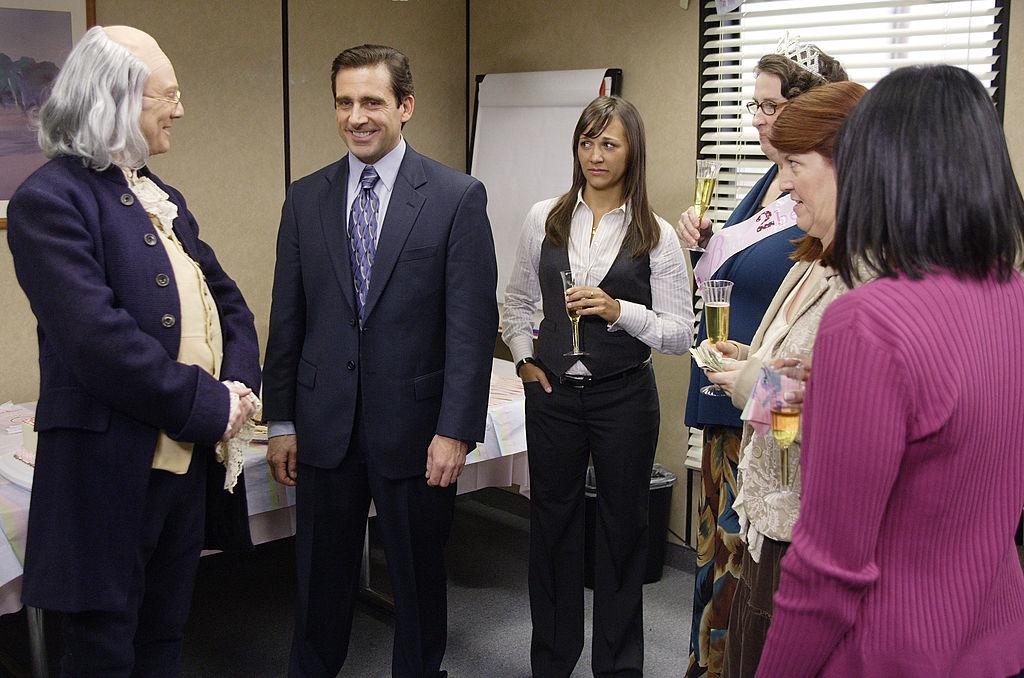 Steve Carell and Rashida Jones in the 'Ben Franklin' episode of 'The Office'