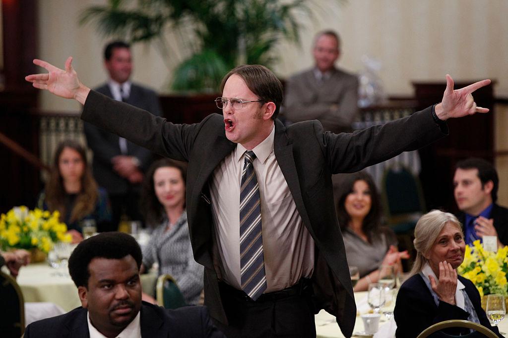 Craig Robinson as Darryl Philbin, Rainn Wilson as Dwight Schrute on 'The Office'
