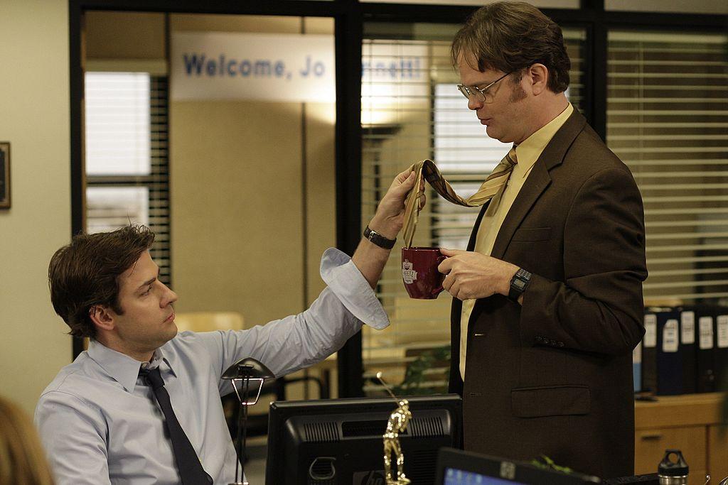 John Krasinski as Jim Halpert, Rainn Wilson as Dwight Schrute on 'The Office'