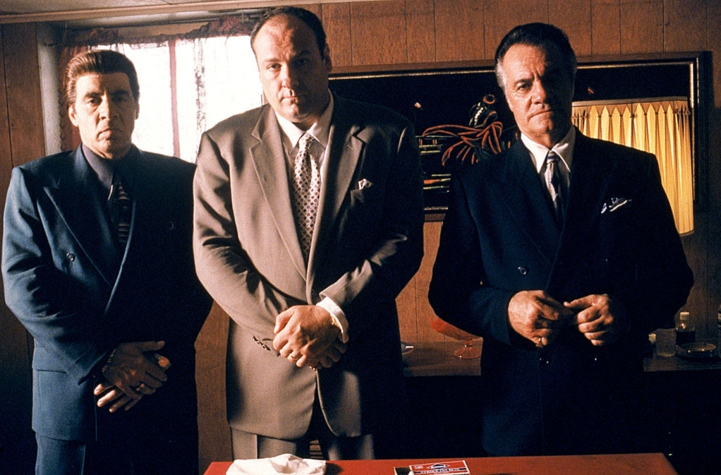 Steven Van Zandt, James Gandolfini, and Tony Sirico in 'The Sopranos'