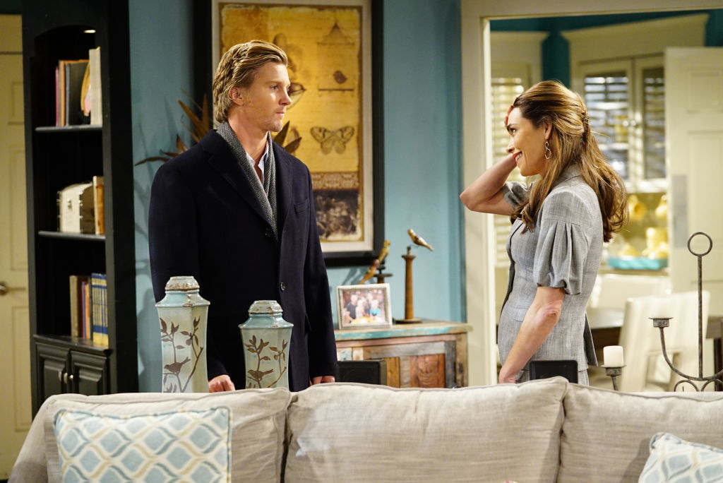 Victoria Newman (Amelia Heinle) and J.T. Hellstrom's (Thad Luckinbill) on 'The Young and the Restless'
