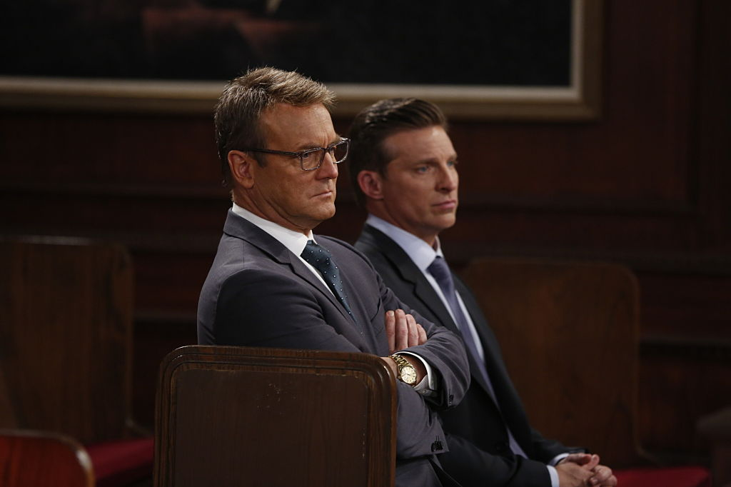 Doug Davidson (Paul Williams) and Steve Burton (Dylan McAvoy) on 'The Young and the Restless'