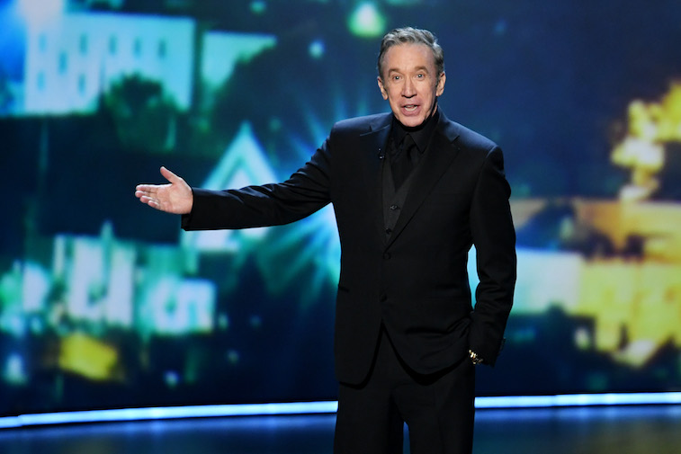 Tim Allen speaks onstage