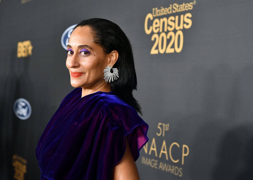Tracee Ellis Ross on the red carpet at an event in February 2020