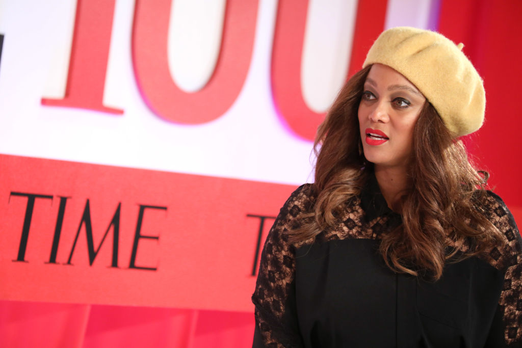 Tyra Banks at an event in April 2019