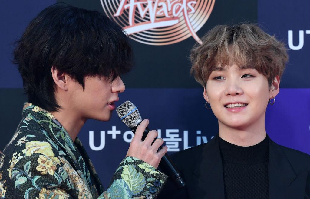 V and Suga of BTS