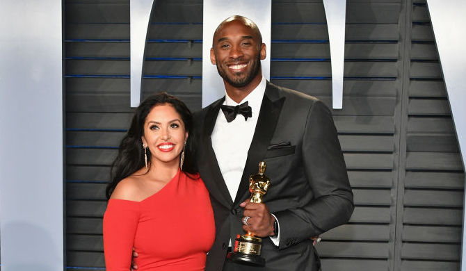 Vanessa and Kobe Bryant at a party in March 2018