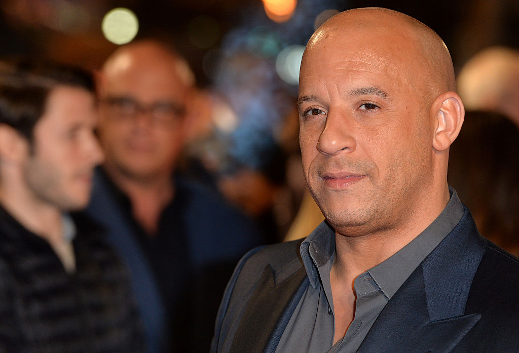 Vin Diesel posing for a photo on the red carpet