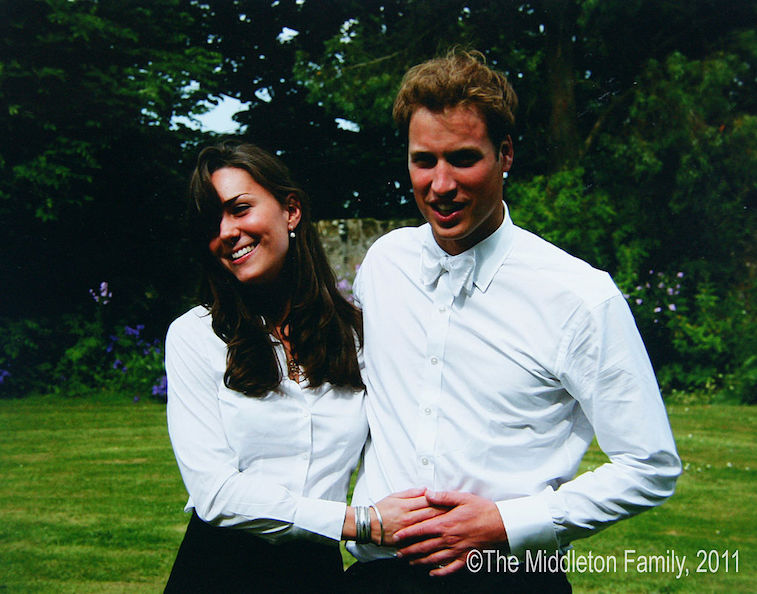 Prince William and Kate Middleton at their college graduation in 2005