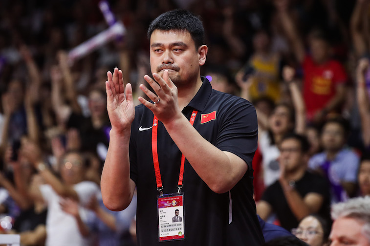 Yao Ming during a basketball game