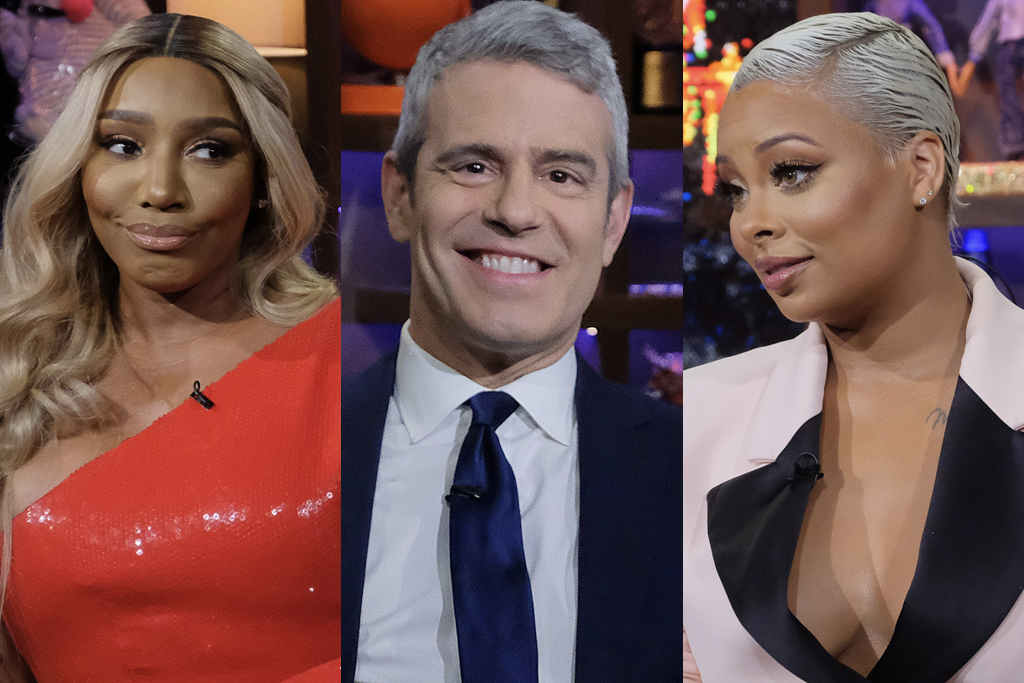 Nene Leakes, Andy Cohen, and Eva Marcille